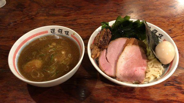 「特製つけ麺¥1,000+中盛(100g)¥100」@中華めん処 道頓堀の写真