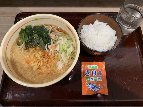 「たぬきそば350+ご飯120=470円」@狭山そば 所沢店の写真