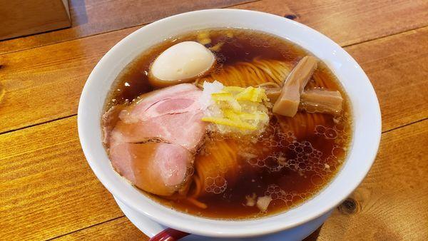「味玉ゆず醤油ラーメン☆☆」@麺屋 坂本01 新潟駅前店の写真
