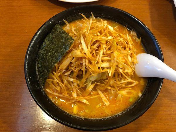 「辛っ風おやじ麺ネギトッピ」@ラーメンおやじ 本店の写真