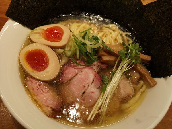 「特製 塩そば(手もみ中太麺)」@麺処 いち林の写真