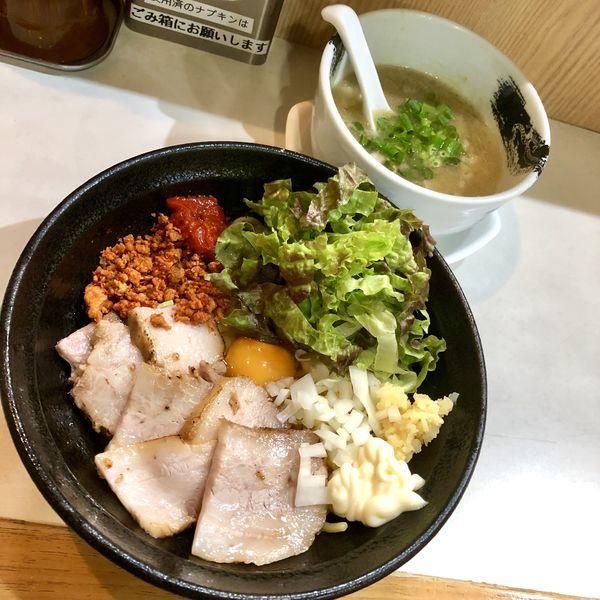 「【気まぐれ限定】辛玉まぜつけ麺」@麺屋 扇 SENの写真