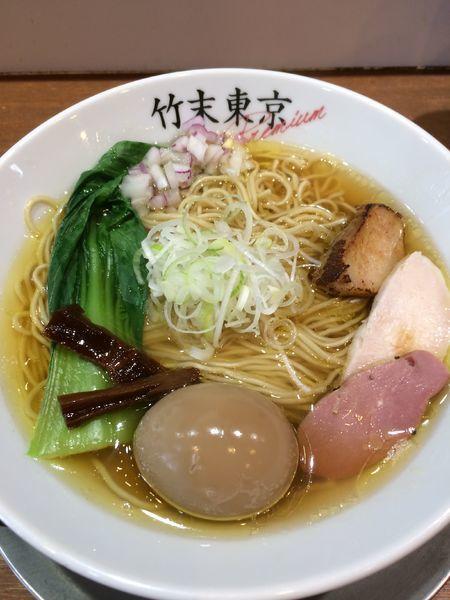「味玉醤油そば900円」@竹末東京プレミアムの写真
