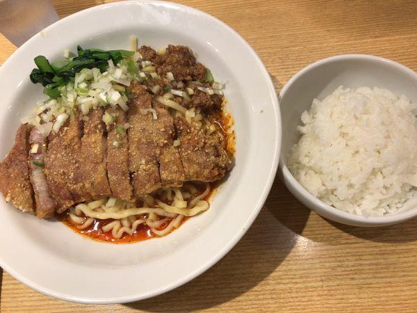 「排骨汁なし担々麺」@排骨担々 五ノ井の写真