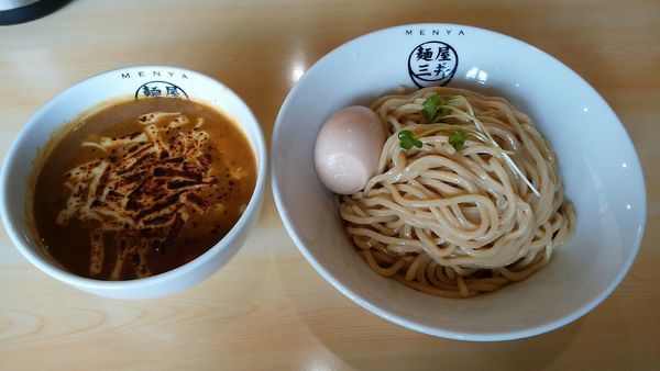 「カレーつけ麺¥830-+中盛¥50-+味玉¥100-」@麺屋三井の写真