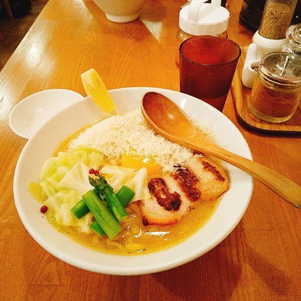 「とりぽたーな チーズ増し」@鶏ポタラーメン THANK お茶の水の写真