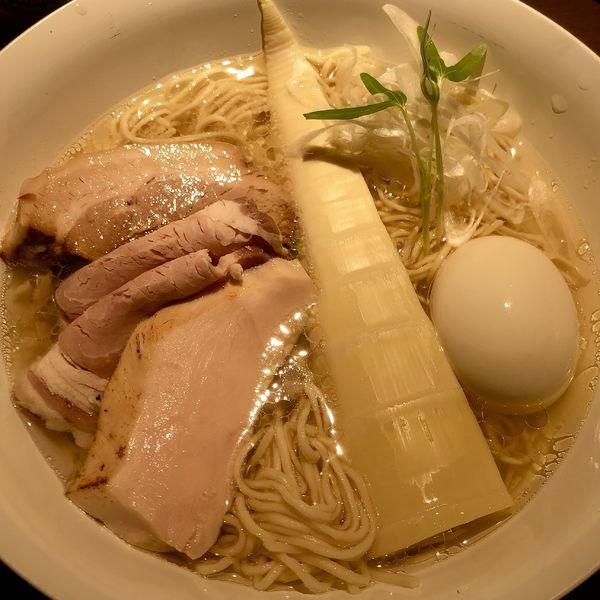 「特製塩+ビール(東京IPA)」@楢製麵の写真