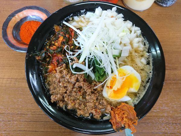 「ニラタマヒーヒー麺(硬め、多め)」@ライスとらーめん立川家 いせさき店の写真
