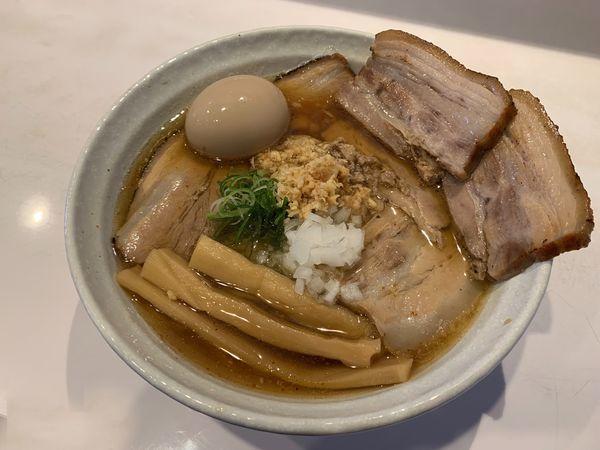 「肉そば大盛り+味玉+チャーシュートッピング」@ぶっと麺 しゃにむにの写真