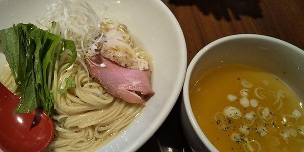 「清湯つけ麺しお」@麺屋 翔 品川店の写真