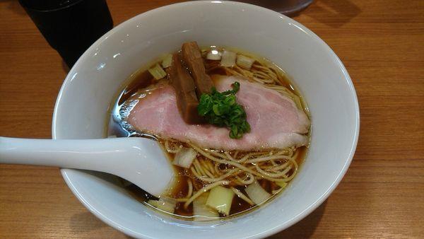 「鶏そば_780円」@鶏そば 煮干そば 花山の写真