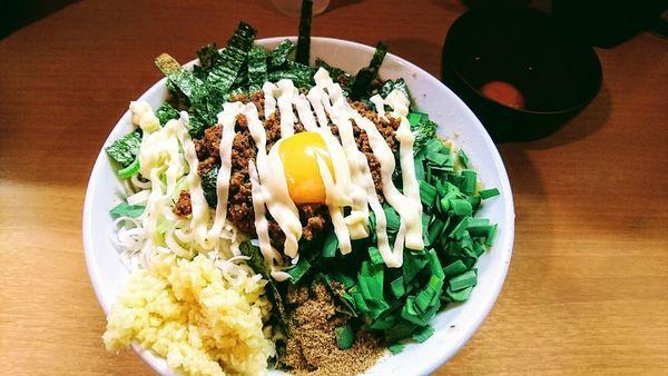 「【限定】我流豚星。台湾混蕎麦(大蒜・マヨネーズ)+塩」@豚星。の写真