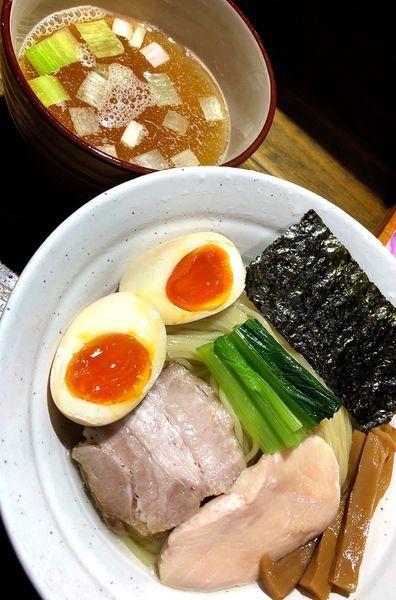 「濃厚昆布水つけ麺(煮干し.味玉半個サービス)」@ラーメン屋ジョンの写真