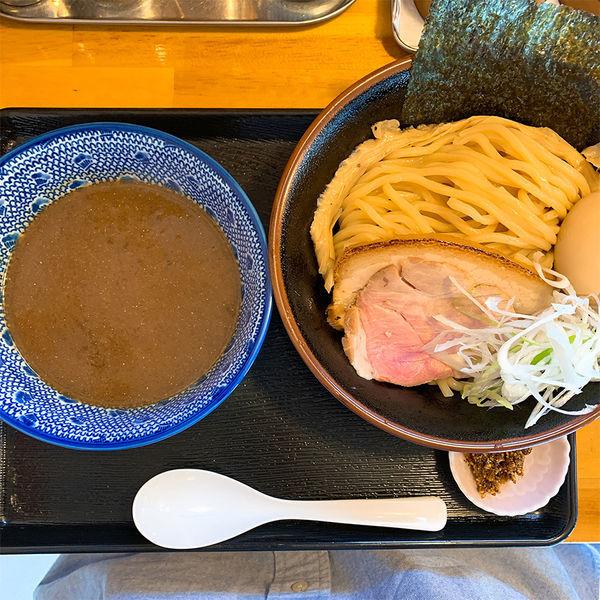 「濃厚魚介豚骨つけめん+味玉+カレ変ライス」@麺屋 太陽の写真
