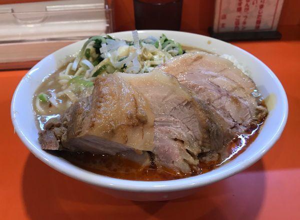 「らーめん豚一切れ+豚券+レン草」@ちばからの写真