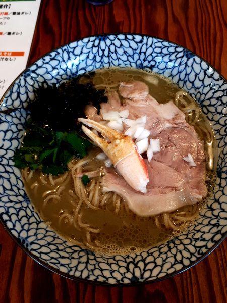 「蟹SOBA900円」@拉麺 イチバノナカの写真