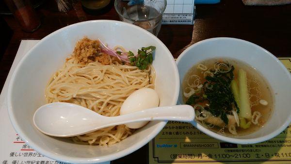 「塩生姜つけ麺¥950-味玉サービス」@塩生姜らー麺専門店MANNISHの写真
