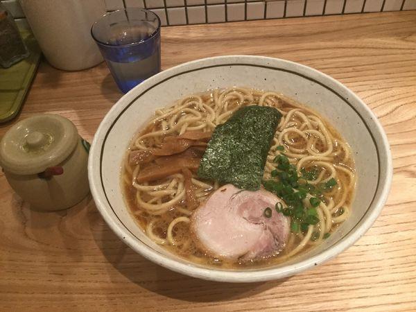 「醤油らーめん・中盛(¥750+100)」@らーめん なないろの写真
