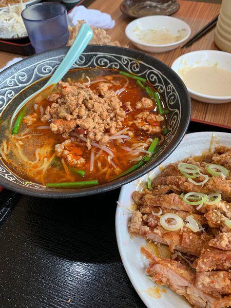 「台湾ラーメン(油淋鶏セット)」@吉祥 小鹿野店の写真