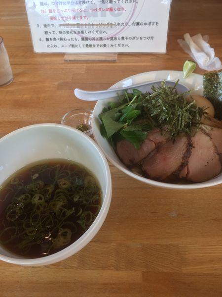 「特製甲州地鶏つけソバ(1200円)」@湖麺屋 Reel Cafeの写真