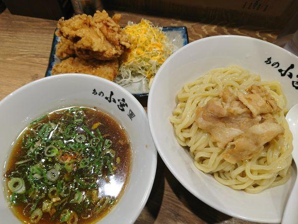 「肉つけ麺 ¥790+唐揚げ¥600」@らーめんとカラアゲ あの小宮の写真