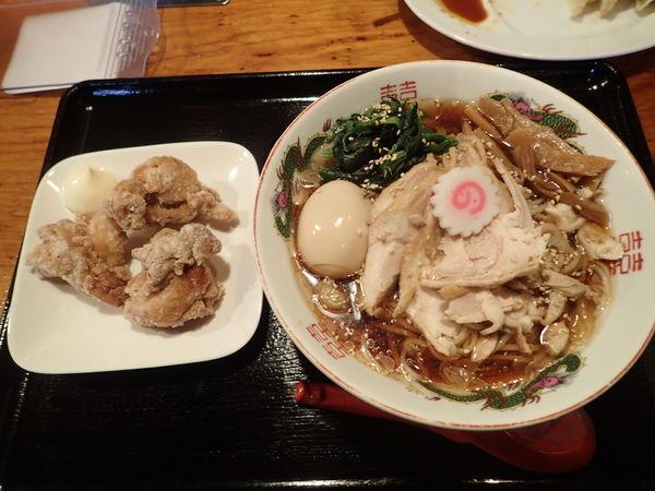 「【夏季限定】冷やし鶏中華そば 750円」@水戸中華そば むじゃき食堂の写真