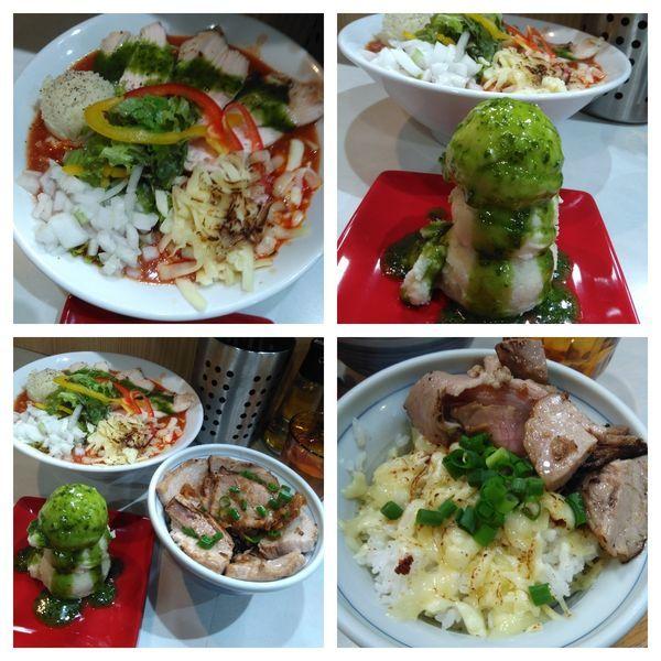 「【限定】イタリアン担々麺+チーズご飯+炙りチャーシュー丼」@麺屋 扇 SENの写真