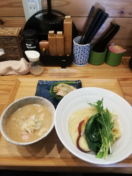 「無添加つけ麺 大 900円メンマ100円」@つけ麺 竹川の写真