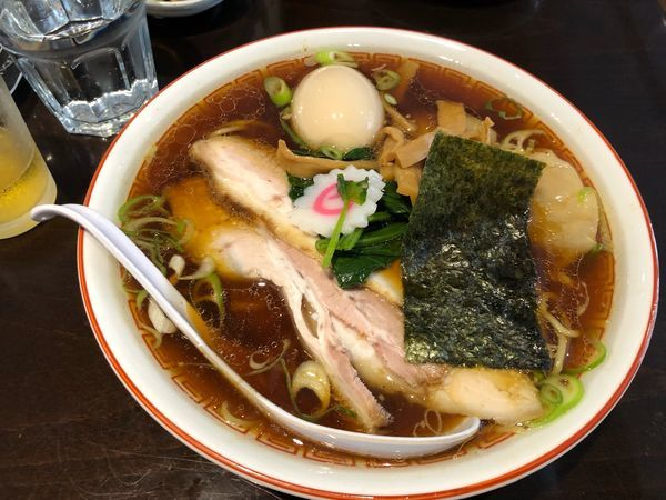 「わんたんめん+味玉」@新潟長岡らぁめん 安ざわ食堂の写真