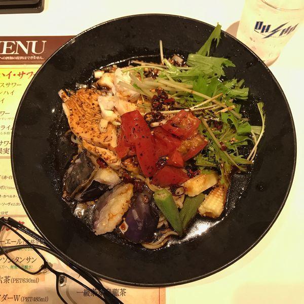 「よだれ鶏冷麺」@餃子の王将 ウィングキッチン京急鶴見店の写真