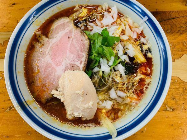 「酸辣麺(中盛)」@口樂の写真