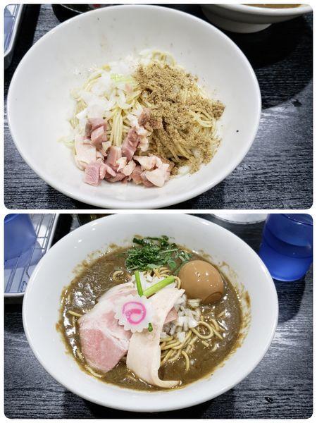 「味玉 濃密な煮干しそば 和え玉」@中華そば いづるの写真