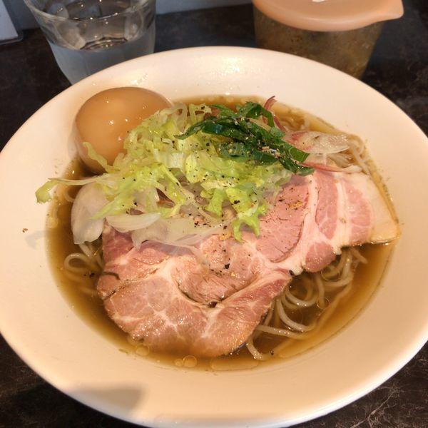 「【限定】冷やし煮干しそば800円+冷し和え玉」@中華SOBA にぼ乃詩の写真