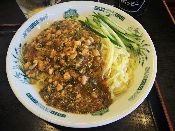 「ガパオ汁なし麺 餃子セット¥800」@日高屋 桶川駅店の写真