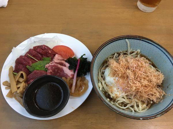 「【水無月限定】馬刺し和風冷中S ¥3000」@MENYA 食い味の道有楽の写真