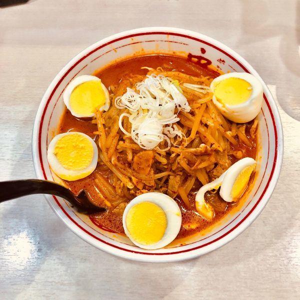 「味噌卵麺」@蒙古タンメン 中本 御徒町店の写真