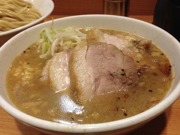 「小つけ麺(野菜少なめ)+豚入り」@ラーメン二郎 八王子野猿街道店2の写真