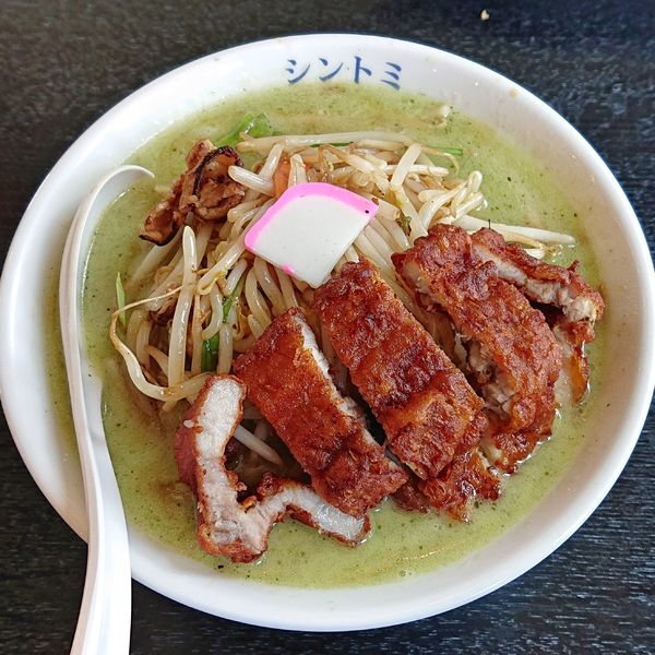 「排骨バジルタンメン1030円+税」@極濃湯麺シントミ 本庄インター店の写真