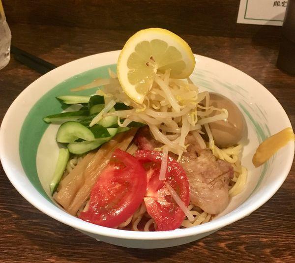 「冷やし中華+味玉」@自家製麺 麺屋 利八の写真