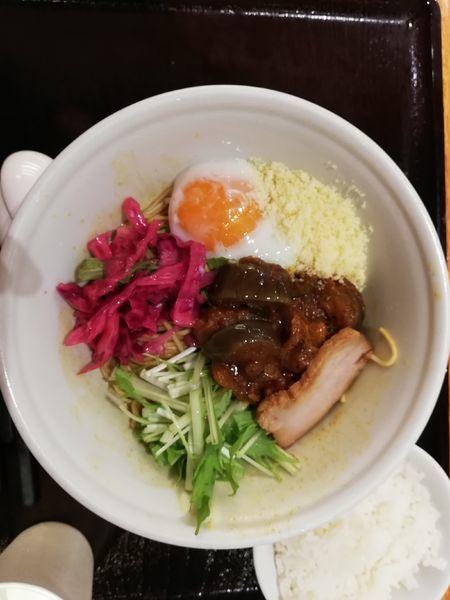 「夏野菜カレーまぜそば 限定」@IPPUDO NOODLE EXPRESS 東京ソラマチ店の写真
