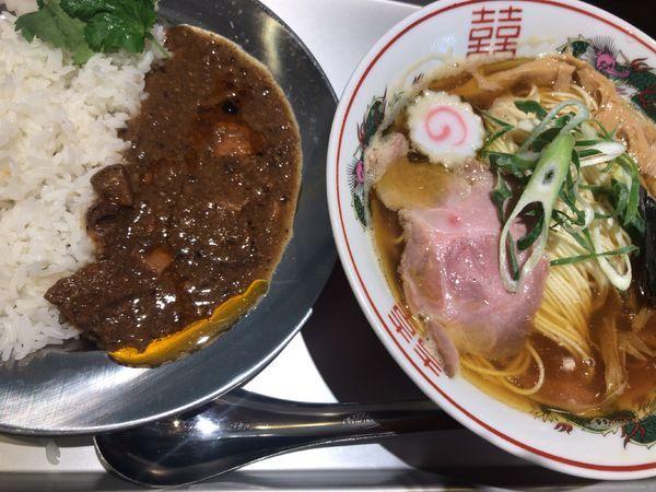 「中華そば ランチカレーセット」@ねいろ屋 神保町店の写真