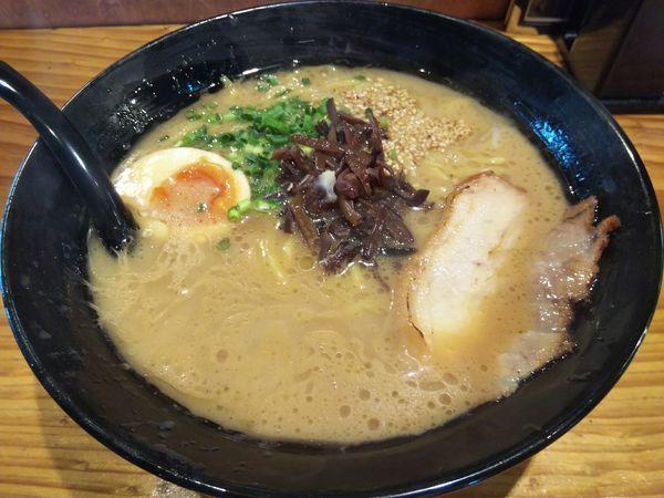 「とんこつ醤油ラーメン ※かため&中太麺」@麺や 花の写真