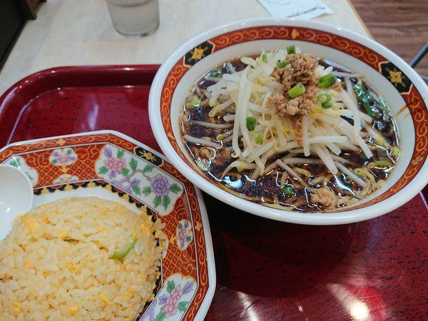 「かけらぁ麺セット 500円」@中華食堂 一番館 志木駅前店の写真