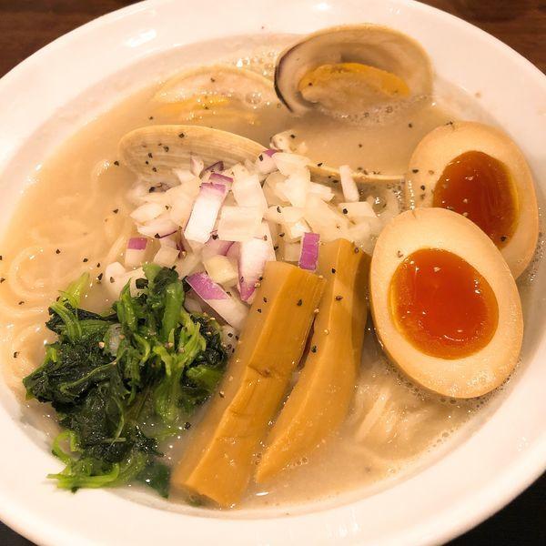 「はまぐり白湯ラーメン ¥1000」@東京Noodle Style エモラーの写真