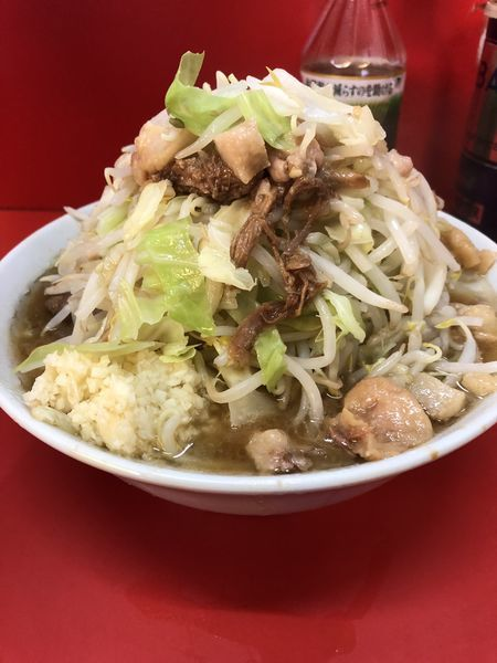 「小ラーメン(野菜・にんにく・あぶら)¥750」@ラーメン二郎 松戸駅前店の写真