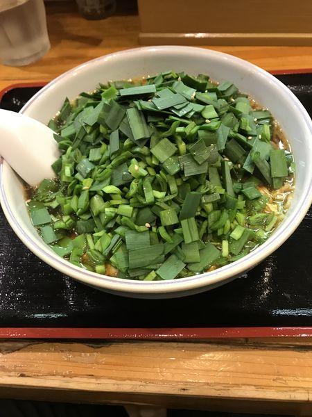 「ニラ玉ラーメン」@麺ぽーかろぅの写真