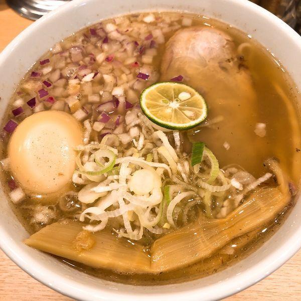 「白中華そば(並) ¥800+煮玉子 ¥100」@麺屋 庄太 赤坂店の写真