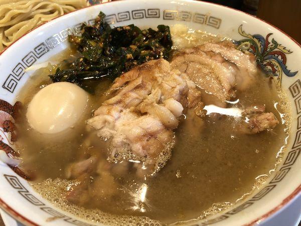 「小ぶたラーメン→つけ麺+味玉+辛ニラ」@ラーメン豚山の写真