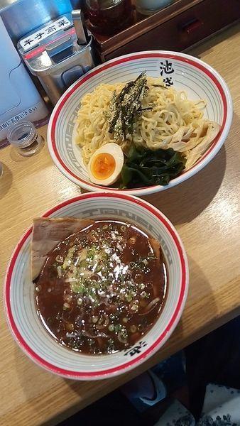 「魚豚つけ麵(大盛・薬味多め)840円」@屯ちん 新宿店の写真