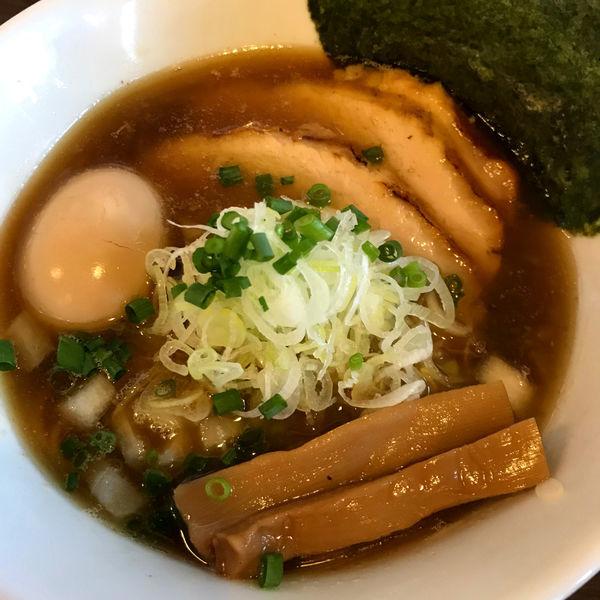「秋刀魚中華そば(醤油) 780円」@つけ麺 弥七の写真